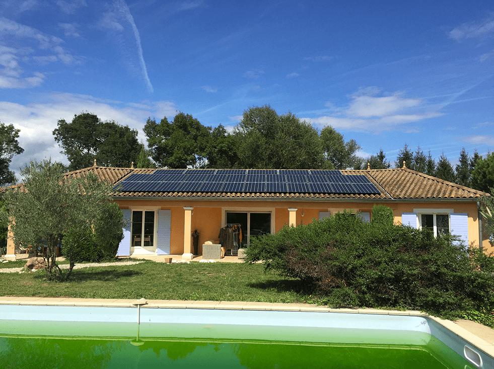 Installation de panneaux solaires à Chassieu Rhone 69